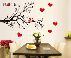 Aliexpress Home Decor Aliexpress Com Buy Fashion Red Love Heart Wall Stickers Home
