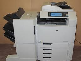 hp colour laserjet cm6040f mfp copier scanner printer stapler