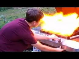 Backyard Grill Refillable Propane Tank Danger In The Backyard Propane Grill Explosion Youtube