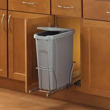 Kitchen Cabinet Trash Bin by Under Sink Garbage Can Home Depot Best Sink Decoration