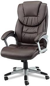 fauteuil de bureau marron armstyle design madrid siège de bureau jusque 120 kg cuir marron