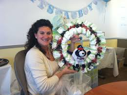 ally and callie the other 128 hours diy diaper wreath cute baby