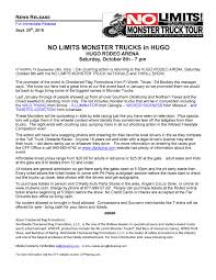 ticket prices for monster truck show hugo news release 16
