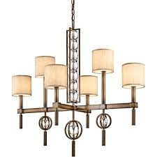Glass Shade Chandelier Elstead Lighting Kichler Celestial 6 Light Ceiling Chandelier In