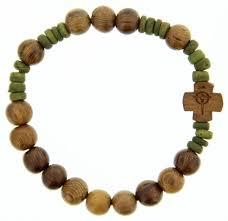 bracelet rosary wood rosary bracelet 8mm from catholic faith store 8mm light
