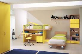 Bunk Beds With Desk And Storage by Bedroom Modern Kids Yellow Bedroom Featuring Bunk Bed With Desk