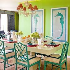 Lime Green Dining Room Inspiration On The Horizon Coastal Green Hue Interiors