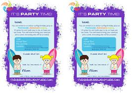 Adventure Time Invitation Card Party Invites Twinwoods Adventure Bedford