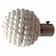Metal Curtain Rods And Finials Pearl Ball Curtain Rod Finials Made Of Iron Global Sources