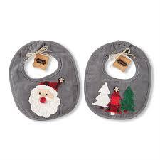 Mud Pie Christmas Ornaments Holiday Alpine Applique Baby Bib Mud Pie Mud Pie Market
