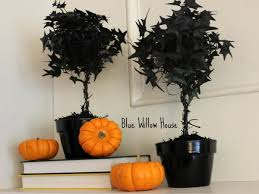 Mantel Topiaries - pottery barn inspired black glitter topiary the blue willow house