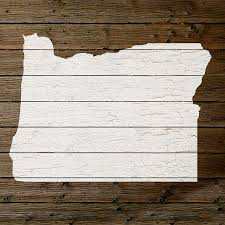 Map Of Oregon State by Map Of Oregon State Outline White Distressed Paint On Reclaimed