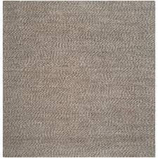 6 Square Area Rug Safavieh Fiber Grey 8 Ft X 8 Ft Square Area Rug Nf448a