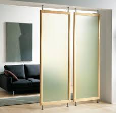 Room Divider Sliding Door Ikea - diy sliding panel room divider ceiling mount hanging panels design