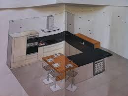 cuisine en u ouverte sur salon ordinaire cuisine en u ouverte sur salon 9 projet de cuisine