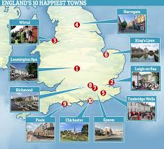 spa and waterside towns are happiest areas of the uk this is money