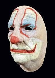 scary old clown face halloween horror movie latex mask prop