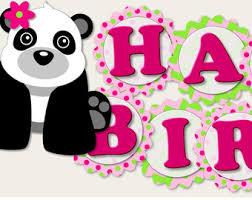 panda bear garland panda bear banner panda bear decorations