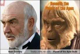 Sean Connery Memes - sean connery totally looks like planet of the apes dude