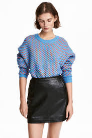 H M Faux Leather Skirt Black H M Us