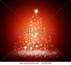 christmas magic tree bright star on stock vector 235296802