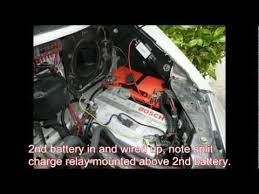 vw t4 auxiliary battery youtube