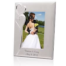 Engravable Wedding Gifts Wedding Romance Silver 5x7 Picture Frame