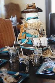Cowboy Table Decorations Ideas Western Baby Shower Ideas For Girls Olena Design