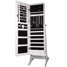 Large White Jewelry Armoire Free Standing Jewelry Boxes You U0027ll Love Wayfair
