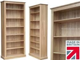 Oak Bookshelves by Solid Oak Bookcase 7ft X 3ft Heavy Duty Storage Display Shelving