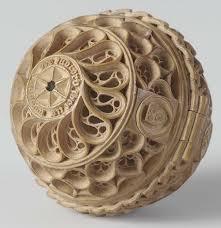 prayer nut wood carving kaleidoscope