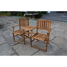 Acacia Wood Outdoor Furniture Durability by Patio Wise Folding Chair Set With Built In Table Acacia Wood