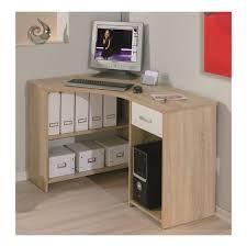 bureau ordinateur angle bureau informatique d angle caprera chêne de sonoma blanc achat