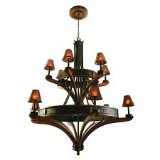 Iron Ring Chandelier Rustic Chandeliers Aspen Iron Ring Chandelier With 12 Lights