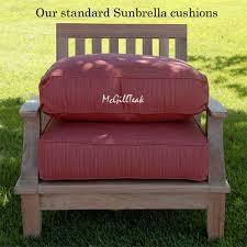 Outdoor High Back Chair Cushions Clearance Deep Seating Cushions Sunbrella Lounge Cushion