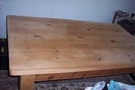 Pine Table Paint And Style Wood Bleach Results And A Scrubbed Pine Table Top