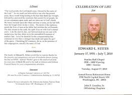Free Funeral Programs Funeral Program Design