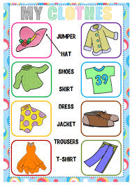 clothes matching interactive worksheet