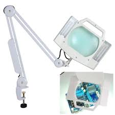 5x desk table clamp mount magnifier lamp light magnifying glass
