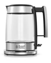 Russell Hobbs Kettle And Toaster Set Stainless Steel 8 Cup Coffeemaker Silver Glass Accent Russell