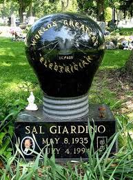 unique headstones world s greatest electrician sal giardino is notable for his