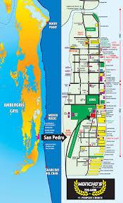 map san pedro ambergris caye belize monchos