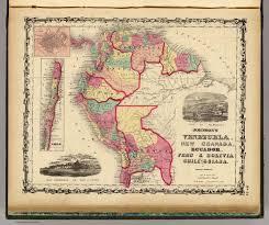 Map Of Lima Ohio by Venezuela New Granada Ecuador Peru U0026 Bolivia Chile And Guiana