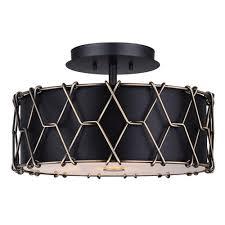 black rectangle l shade hatta isf675a02bkg 2 lt flush mount black shade 60w type a 15