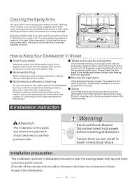 warning installation instruction how to keep your dishwasher in