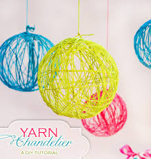 diy tutorial creative yarn chandelier hostess with the mostess