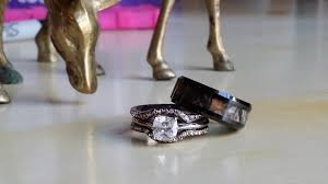 chocolate wedding ring set camo wedding engagement ring set s ring is 3 ring set
