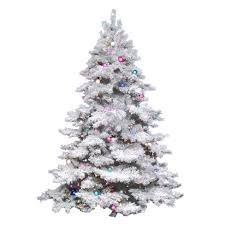 4 5ft pre lit artificial tree flocked alaskan