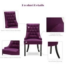 purple ikayaa accent linen fabric dining room chair lovdock com