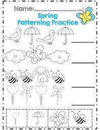 spring patterning practice números pinterest worksheets